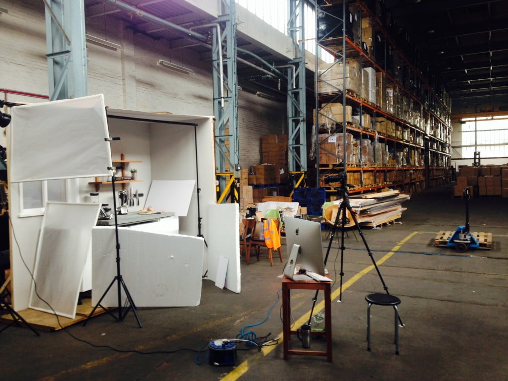 Behind the Scenes: Us photographers do always say it's not always as glamorous as it looks on the finished article!